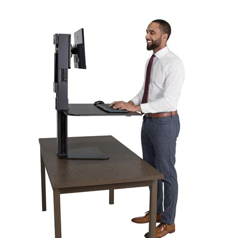 victor sit stand desk victor dc300 high rise collection sit stand desk converter