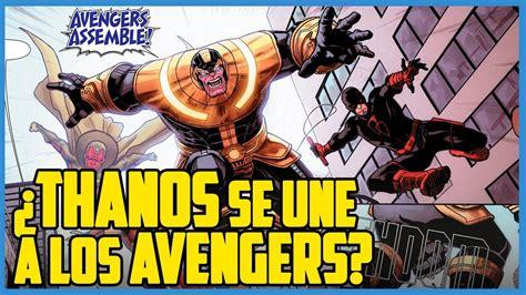 imagenes fuertes comicas 191 thanos es el nuevo l 205 der de los avengers c 211 mic narrado