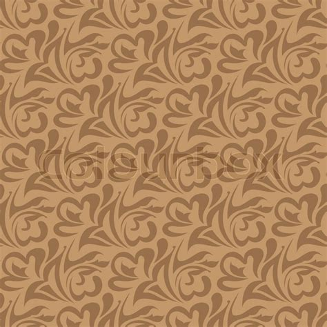 brown pattern vector brown seamless wallpaper pattern stock vector colourbox