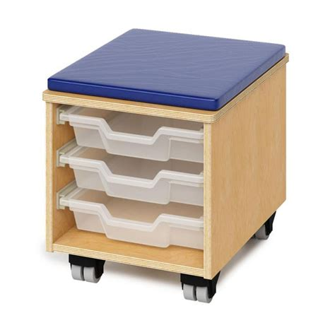 Rolling Stool With Storage by Brothers S Rolling Stool With Tray Storage