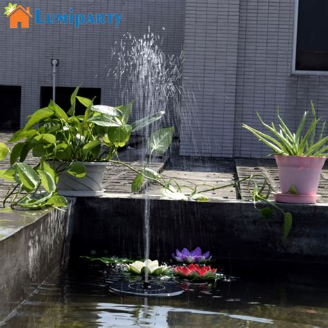 Lu Solar Lu Lentera lumiparty sale 7v floating water solar panel garden plants water power pool