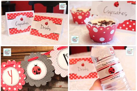free printable ladybug birthday decorations ladybug themed birthday party with free printables
