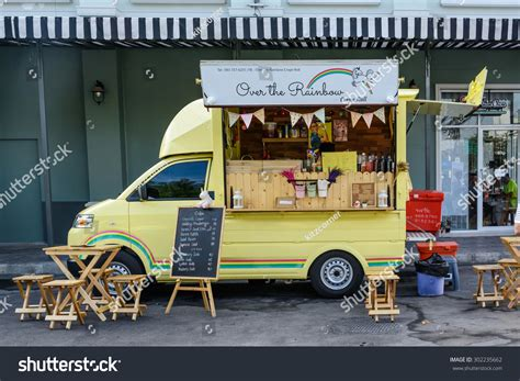 american food truck design co bkk bangkok thailand 25 july2015 people order stock photo