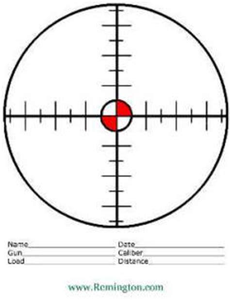 printable targets remington free paper shooting targets