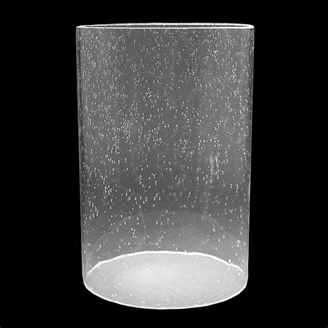 Lighting Fictures by 5917 Clear Seeded Glass Cylinder 5 Quot X 7 1 4 Quot Glass