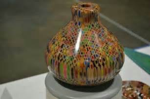 colored pencil vase turned colored pencils wood turning