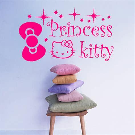 Walpaper Sticker Dinding Pink Hello 1 free shipping hello princess bow wall sticker home mural vinyl wallpaper kid room