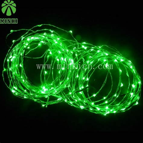 6m green led copper string light for christmas tree