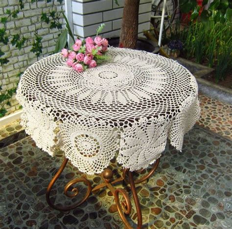 Handmade Crochet Tablecloths For Sale - aliexpress buy vintage 100 handmade cotton crochet