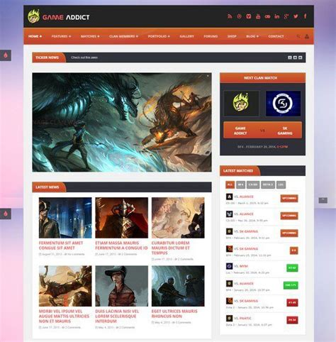 10 Best Gaming Php Website Templates 2018 Templatefor Php Website Templates