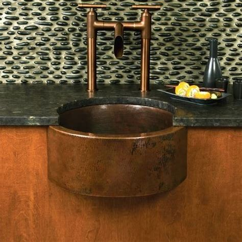 Mini Bar Sink Copper Faucet And Sink For A Mini Bar Home Decor