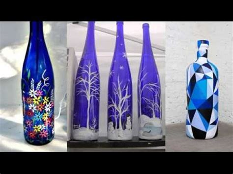 repurposed glass bottles into creative decorations