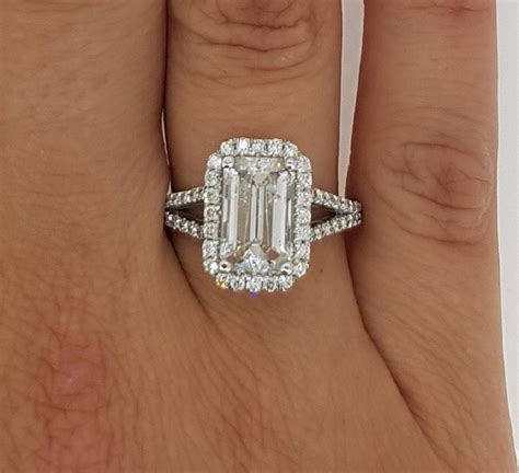 4 carat emerald cut engagement ring ara diamonds