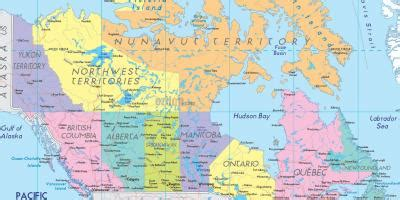 canada cities map map  canada showing cities northern