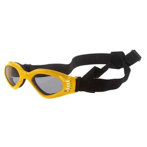 goggles for dogs adjustable foldable uv protection sunglasses swimming goggles for cat yellow ebay