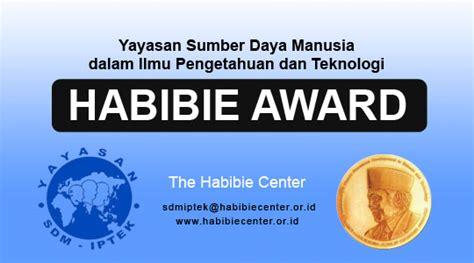 habibie award penghargaan karya iptek habibie award direktorat