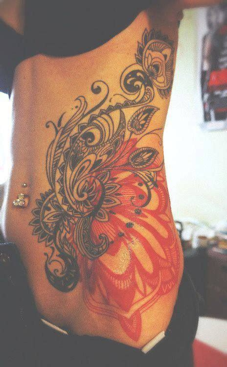 side belly tattoo designs and pretty lower stomach designs