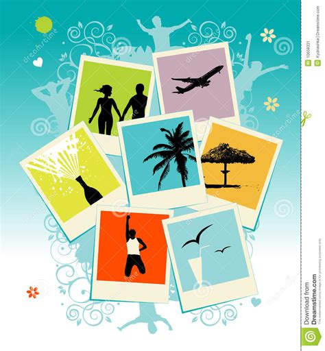 Collage Of Photos Template Stock Vector Illustration Of Card Blank 10658331 Card Collage Template