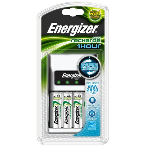 aa battery and charger energizer chargeur 1 heure 2 piles rechargeables ni mh