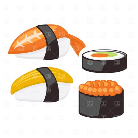 eps clipart set of sushi vector image 1706 rfclipart