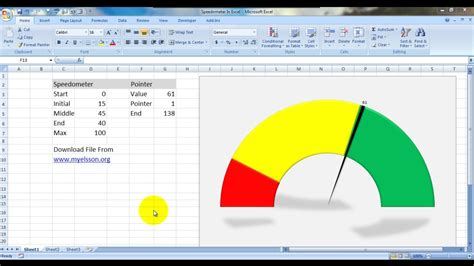 make speedometer chart in excel hindi youtube