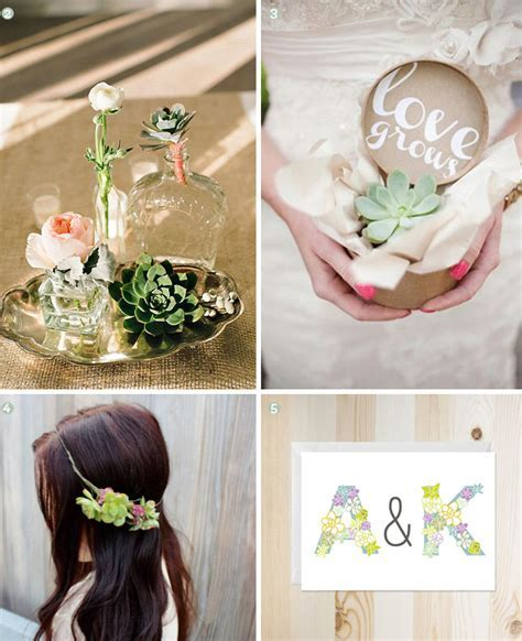 Design Inspiration: Succulent Wedding Decor   Exquisite