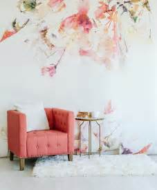 large flower wall murals sale spring floral large wall mural watercolor mural
