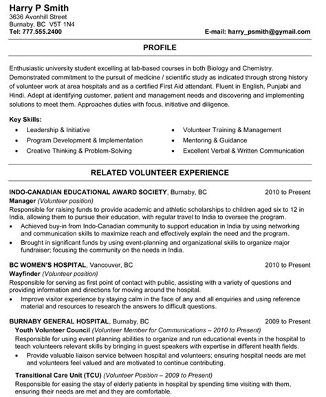 biology and chemistry student resume sle resume