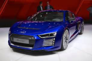 2017 audi r8 e all electric sports car live photos