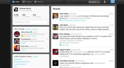 twitter website layout the new twitter design thomas davis freelance motion