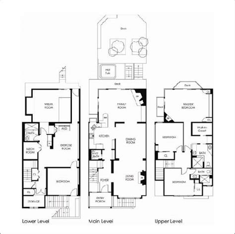 house floor plans with home theater house design plans