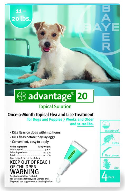 advantage for dogs 11 20 lbs 4 month advantage flea teal for dogs 11 20 lbs