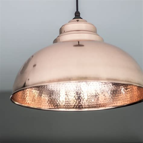 Harborne Pendant Light In Hammered Copper Period Home Style Hammered Copper Pendant Lights