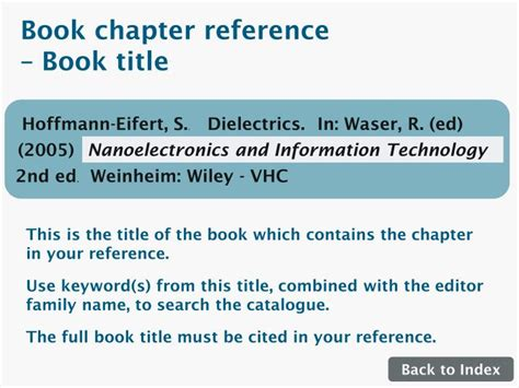 reference to book chapter ppt references explained click here for guidance on