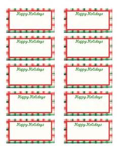9 best images of printable holiday gift tag templates
