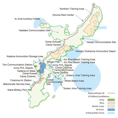 map usa bases maps of us bases in okinawa us japan
