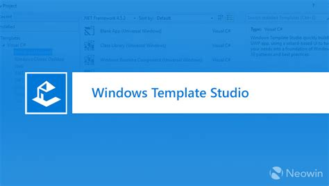 Windows Template Studio Reaches Version 1 3 Neowin Microsoft Windows Templates