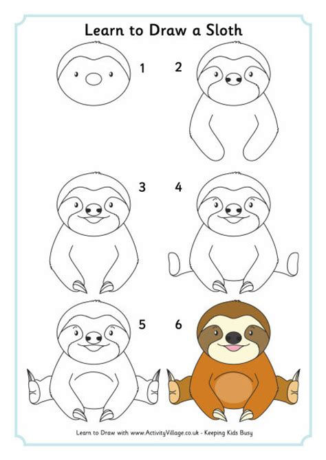 learn doodle drawing learn to draw a sloth