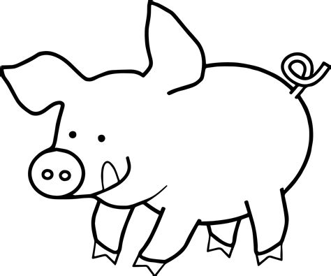 Pig Coloring Pages by Happy Pig Coloring Page Wecoloringpage