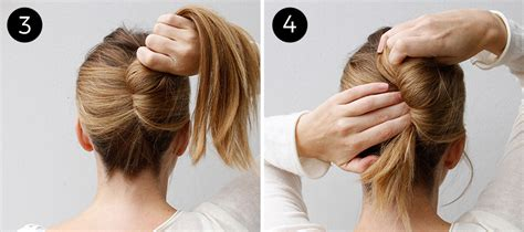 step by step french roll hair go classically chic with this easy french twist more com