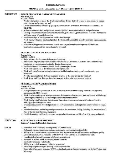 Contract Stress Engineer Sle Resume by Hardware Engineer Sle Resume Order Form Template Free