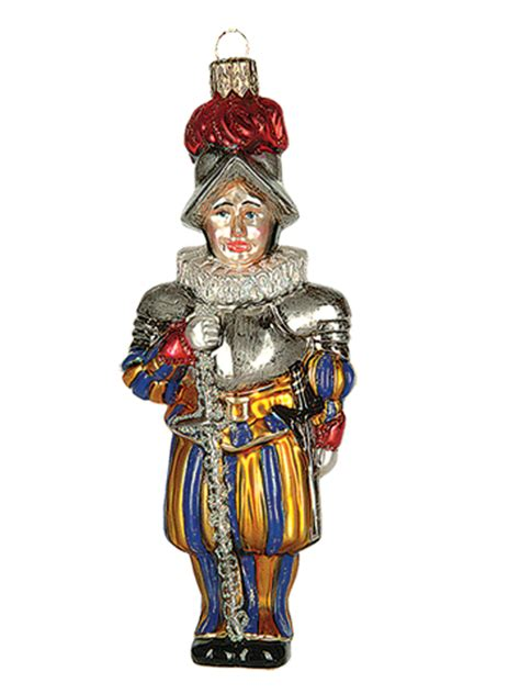 swiss vatican guard polish mouth blown glass christmas