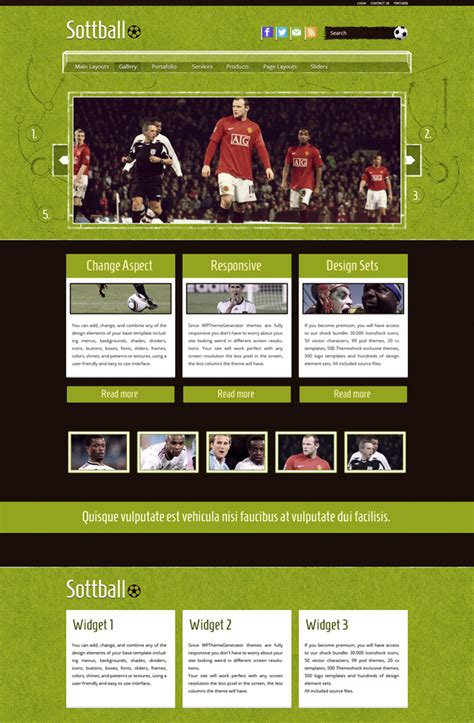 Themes Wordpress Soccer | soccer wordpress theme