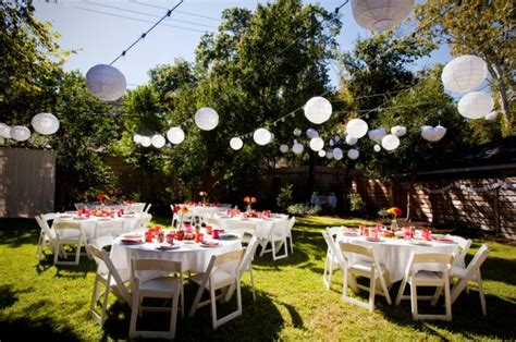 back yard party backyard wedding decoration ideas marceladick com