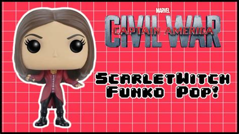 Funko Pop Captain America Civil War Scarlet Witch captain america civil war scarlet witch funko pop