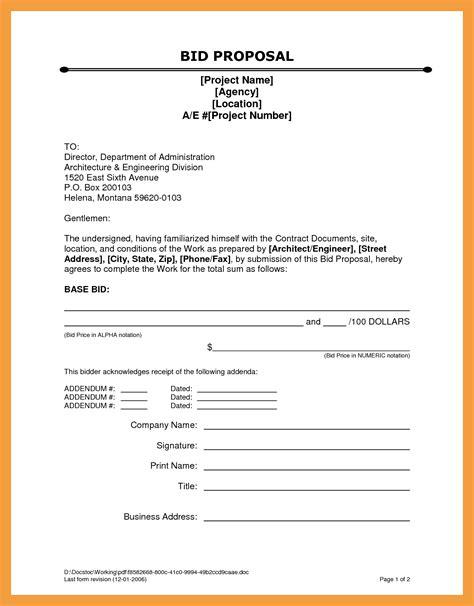 bid document template 11 bid template resume pdf