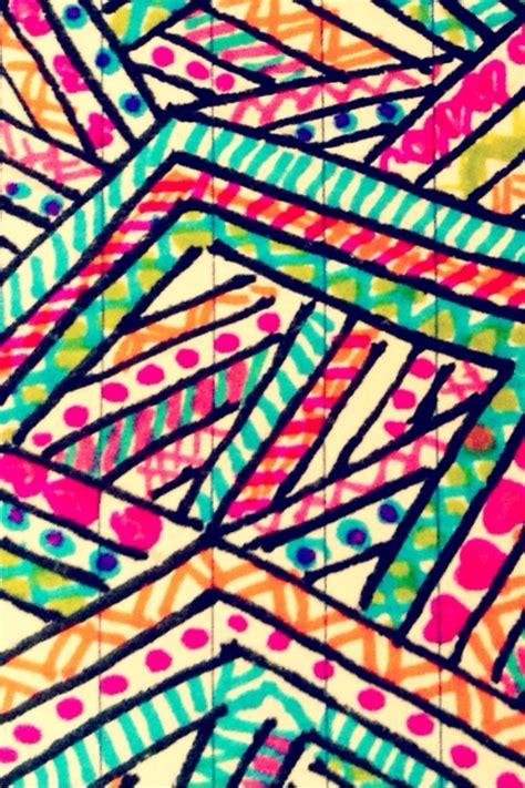neon pattern wallpaper hand drawn aztec prints wallpaper pinterest aztec