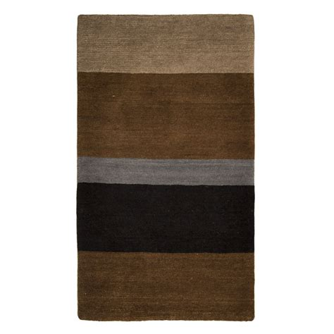 Modern Black Rug Tufenkian Modern Brown Black Blue Wool Rug 4410 Andonian