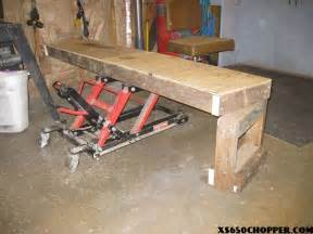 Hydraulic Motorcycle Bench Wood Working Projects Motorcycle Work Table Plans