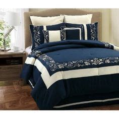 Black Master Db Navy 7 black and white flocking comforter